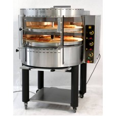 GAS Pizza Oven with Rotating Deck mod.RP 2 - Capacity 16 pizzas-Potential for 160 pizzas (30 cm) per hour