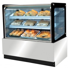 Hot display with straight glass,