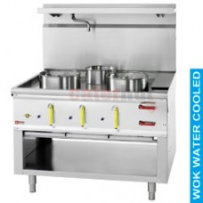 Wok  3 burners with Water Curtain