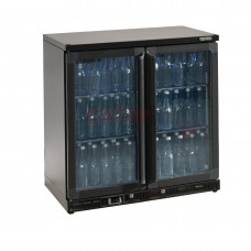 Bottle Cooler - Double Hinged Door 250 Ltr Black