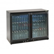 Bottle Cooler - Double Hinged Door 275 Ltr Black