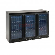Bottle Cooler - Triple Hinged Door 315 Ltr Black