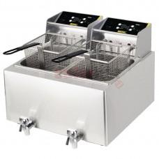 Double Tank Countertop Fryer 2x8Ltr