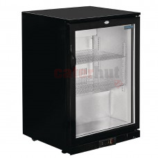 Bar Cooler with Hinged Door in Black 138Ltr