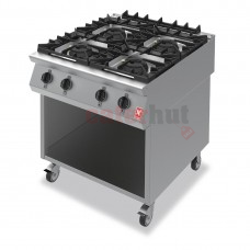 Four Burner Boiling Hob on Mobile Stand Gas