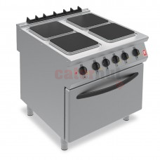 F900 Four Hotplate Electric Oven Range