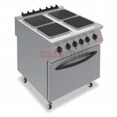 F900 Four Hotplate Electric Oven Range on Castors
