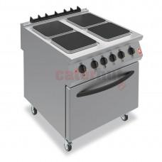 F900 Four Hotplate Electric Oven Range on Castors