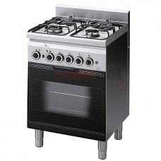 4 Burner Gas Range,1 Gas Oven + Electric Grill
