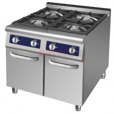 4 Burner Gas Range, 2 Closed Cabinets