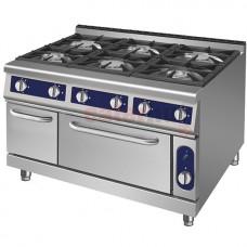 6 Burner Gas Range,1 Gas Oven