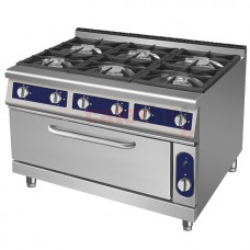 6 Burner Gas Range,1 XL Gas Oven