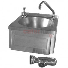 Wall-Mounted Hand Wash Basin, Knee Operated