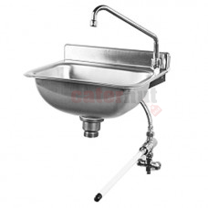 Wall-Mounted Hand Wash Sink, Knee Operated