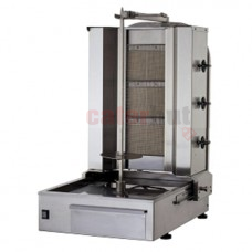 Gas Kebab Grill with 3 infrared burners, 20-40 kg