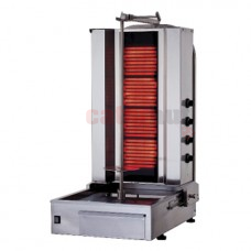 Electric Kebab Grill with 4 Heating Elements, 40-60 kg