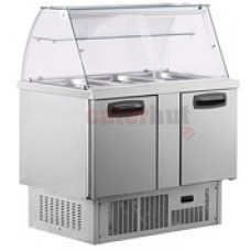 Inomak BS7300 2 Door Refrigerated Display Prep Counter