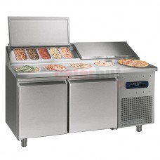 Refrigerated preparation counter , 2 doors, 7 x GN 1/3