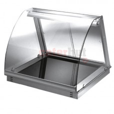 Drop-in heated ceramic glass display, 1 level, 2x GN 1/1