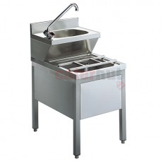 Hand Washing Unit With Draining System Combination, 500x600 mm