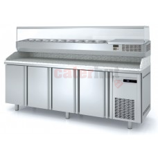 Pizza Prep Granite Working Top 2 Door Refrigerated Counter