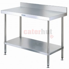 Stainless Steel Wall Tables, 60cm Deep + Upstand