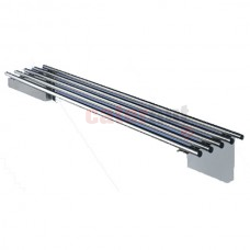 Stainless Steel Piped Wall Shelves 300mm Deep