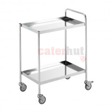 2 Tier Trolley + Push Bar + Wheels